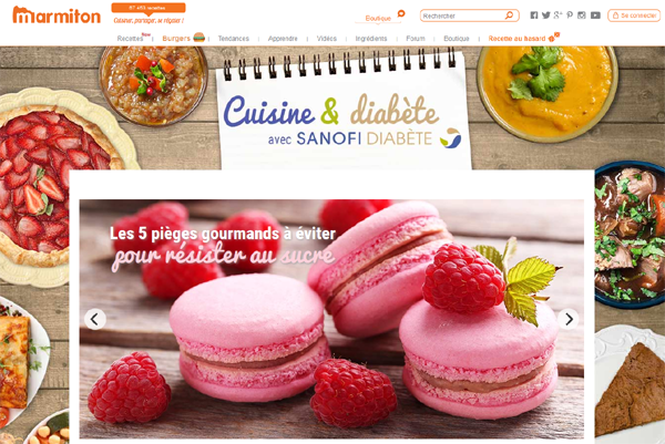 Cuisine et diabète avec Sanofi diabète sur Marmiton' 'http://i2.wp.com/buzz-esante.fr/wp-content/uploads/2016/06/Marmiton-sanofi-home.png?w=600 600w, http://i2.wp.com/buzz-esante.fr/wp-content/uploads/2016/06/Marmiton-sanofi-home.png?resize=300%2C201 300w, http://i2.wp.com/buzz-esante.fr/wp-content/uploads/2016/06/Marmiton-sanofi-home.png?resize=90%2C60 90w, http://i2.wp.com/buzz-esante.fr/wp-content/uploads/2016/06/Marmiton-sanofi-home.png?resize=180%2C120 180w, http://i2.wp.com/buzz-esante.fr/wp-content/uploads/2016/06/Marmiton-sanofi-home.png?resize=95%2C64 95w