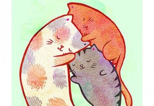 gatos-familia