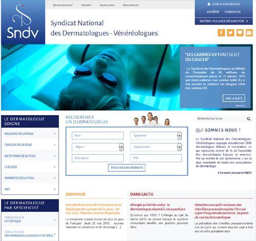 Syndicat des dermatologues' 'http://i2.wp.com/buzz-esante.fr/wp-content/uploads/2015/05/SNDV.png?w=500 500w, http://i2.wp.com/buzz-esante.fr/wp-content/uploads/2015/05/SNDV.png?resize=300%2C283 300w