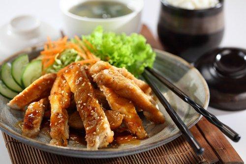 pollo teriyaki