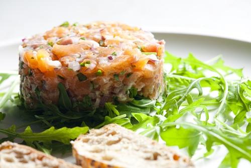 pastel de salmon